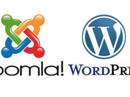 Logos de WordPress y Joomla!